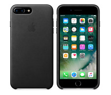 "BLACK GENUINE ORIGINAL Apple Leather Case For iPhone 7 Plus (5.5"") RETAIL NEW"