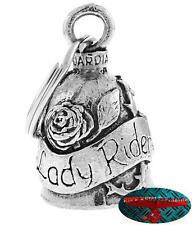 Biker Motorrad Guardian Bell Glocke Glücksbringer - LADY RIDER Key Ring Anhänger