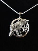 Rabe Raven Talisman Anhänger Silber Gothic Schmuck - NEU