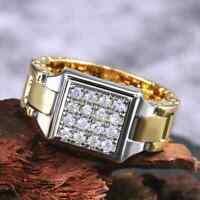 Ring 66  Fingerring Herrenring Gold Silber zweifarbig  Herrenschmuck Goldring
