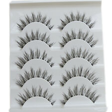 Beauté 5 paires de maquillage faits à la main Mode naturel longs cils FAUX CILS