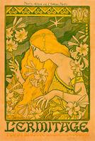 L'Ermitage-by-Paul-Berthon A1 High Quality Canvas Print