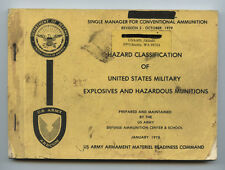 Hazard Classification Of Us Military Explosives and Hazardous Munitions Jan 1978