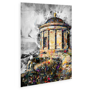 Mussenden Temple Tourist Info Collage Poster sized A2