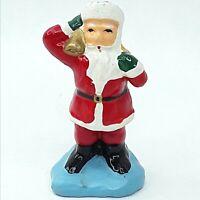 Christmas Santa Claus figure ornament decoration figurine Clay Small Vintage