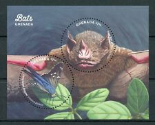 Grenada 2017 MNH Bats of Grenada 2v S/S Butterflies Insects Tree Bat Stamps
