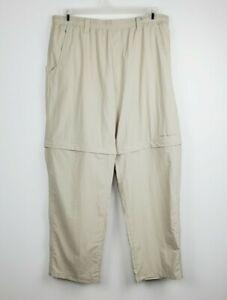 Columbia PFG OMNI-SHADE UPF 50 Backcast Convertible Pant Mens Size L/ 30 inseam