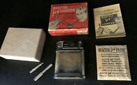 Vintage RARE Beattie Jet Lighter with original box paper inserts tools set *FLAW