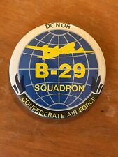 """Vintage B-29 Squadron Confederate Air Force Donor Button Pin 3"""""""