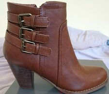Emilio Luca x Tambour Ladies Brown Ankle Boots Bnib Uk 3