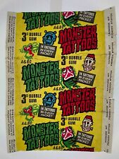 More details for 1970 a&bc vintage 3d monster tattoos gum wax wrapper flawed sharp bright colours