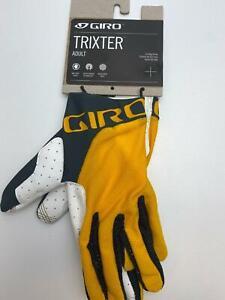 new Giro TRIXTER bicycle Long Finger GLOVES men's Glaze Yellow / Grey