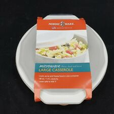 New listing Nordic Ware Large Casserole Dish With Lid 48 Oz 1.4 Liter Oven Micrkwave Dish