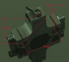 Pro 3 Holes Rod Clamp for 5D2 5D3 15mm rod Rail Dslr Rig Support System new
