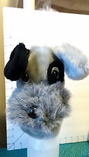 """Puppet, Schnauzer, Dog, Plush Animal, """"Shiner"""", by AGS, Item #7128A, Collectible"""