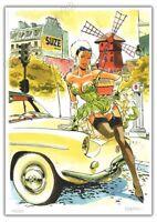 Ex-libris MEYNET BD Pin up Paris Moulin Rouge numéroté signé format A4