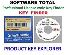 Professional License code , Key Finder , Window XP, Vista , 7 ,8.1 & 10 CD
