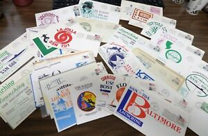 LOT OF 55 US SUBMARINE COVERS MOST HAVE CACHETS 1960'S-2000 VF