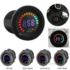 Car Motorcycle LED Panel Digital Voltage Socket Meter Display Voltmeter DC 24V