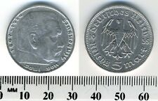 Germany - Third Reich 1935 D - 5 Reichsmark Silver Coin - Hindenburg issue - #5