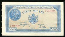 u584 ROMANIA 5000 LEI 1944 BANKNOTE P#55 aUNC / UNC