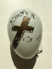 "ANTIQUE LARGE BLOWN GLASS EASTER EGG - ""EASTER GREETINGS"""