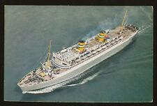 1960 SS Nieuw Amsterdam Postcard - Holland America Line