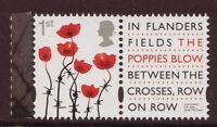 Grande-Bretagne 2015 FIRST guerre mondiale Poppy Tampon non montés excellent