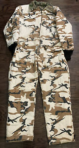 Insulated Camo Camoflage Snowmobile Suit Mens Large Deer Buck Hunting Reversible