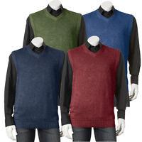 New Croft & Barrow Men's Big & Tall Heavyweight V-Neck Sweater Vest MSRP $45