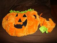 "ES Dog Halloween Costume Pumpkin & Cap 8"" Plush Soft Toy Stuffed Animal"