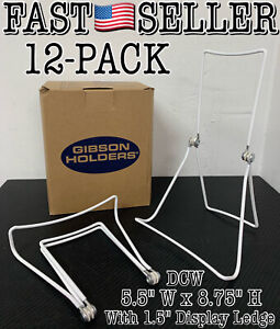 Pack Of 12 Gibson Holders DCW Adjustable Wire Display Easel, White - NEW! FAST!