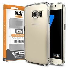 Orzly Flexicase TPU Gel Case Cover Soft Skin For Samsung Galaxy S7 EDGE -Clear