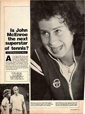 1979 VINTAGE 3PG PRINT ARTICLE ON IS JOHN McENROE THE NEXT SUPERSTAR OF TENNIS?