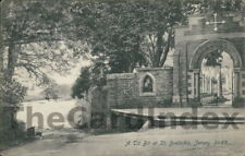 ST. BRELADES Cemetery Gates Postcard JERSEY J. Welch & Sons