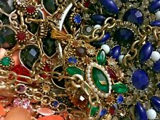 VINTAGE NOW JEWELRY LOT 2 LBS ALL RHINESTONE Harvest, Stones, Crystals UNTESTED
