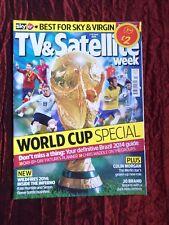TV & SATELLITE WEEK UK MAGAZINE- 7-13 JUNE 2014- WORLD CUP SPECIAL -HUGH DENNIS