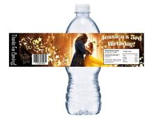 10 BEAUTY AND THE BEAST BELLE BIRTHDAY PARTY FAVORS WATER BOTTLE LABELS WRAPPERS
