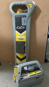 Radiodetection eCAT4+ Kit - DATA Logging * DEPTH * Strke Alert - Genny4 - USED