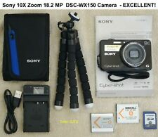 Sony 10X Zoom 18.2 MP DSC-WX150 Camera and Accessories - EXCELLENT!