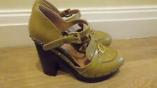 L'autre chose Italian yellow high heel wedges size 37