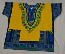 Boho Africa Hippie Unisex Dashiki 100% Cotton NWOT #N650 See measurement~Big sz