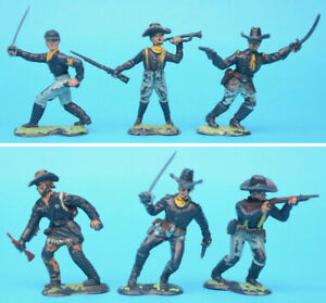 CRESCENT 60mm U.S. Cavalry figures toy soldiers (V)