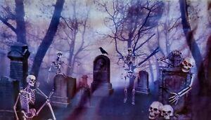 🎃 Halloween Backdrop Wall Decor - Haunted Graveyard