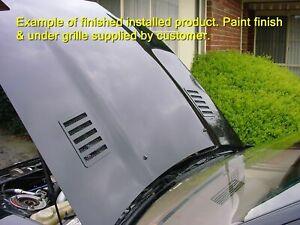 Hood / bonnet vents 1 pair 4x4 4WD etc Custom Laser Cut Aluminium