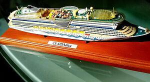 AIDA DIVA, Hochwertiges Standmodell auf Holzsockel Kreuzfahrtschiff, sehr selten