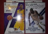 2015-16 PANINI Prestige Basketball (2) Hanger Box lot  1 Acetate 1 Exclusive RC