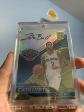 2019-20 Spectra Catalysts Signatures Gold SSP /10 #28 Lonzo Ball  MINT