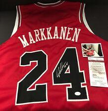 Lauri Markkanen Autographed Signed Custom Jersey JSA WITNESS COA