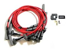 Big Block Chevy BBC 454 Red Spark Plug Wires Over Valve Cover HEI Moroso 73688